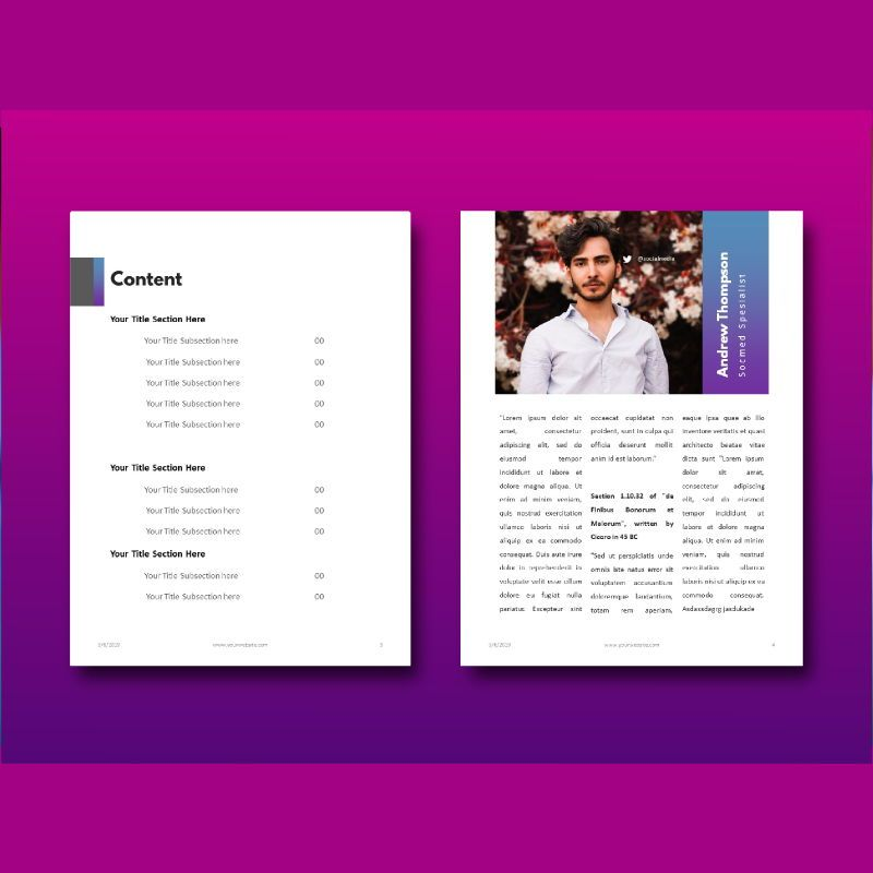 Social media marketing ebook keynote template, Slide 4, 05174, Presentation Templates — PoweredTemplate.com
