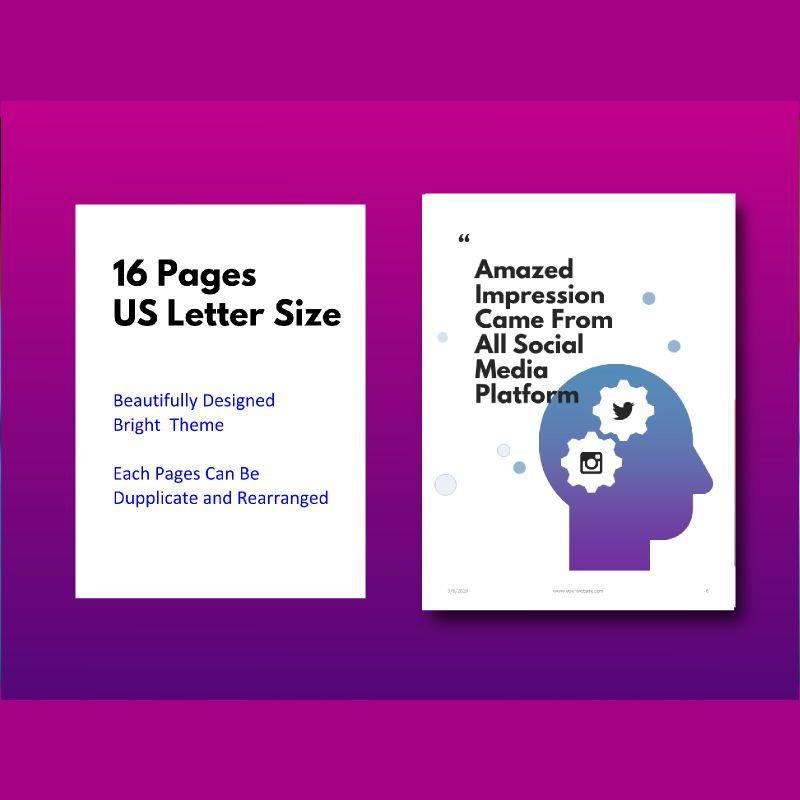 Social media marketing ebook keynote template, Slide 5, 05174, Presentation Templates — PoweredTemplate.com