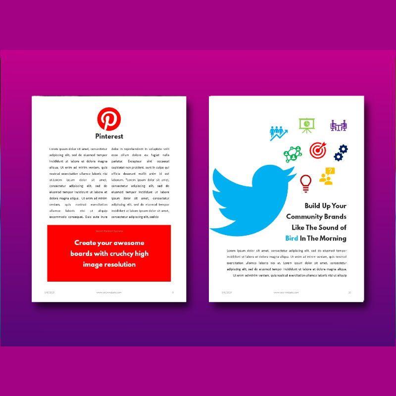 Social media marketing ebook keynote template, Slide 7, 05174, Presentation Templates — PoweredTemplate.com
