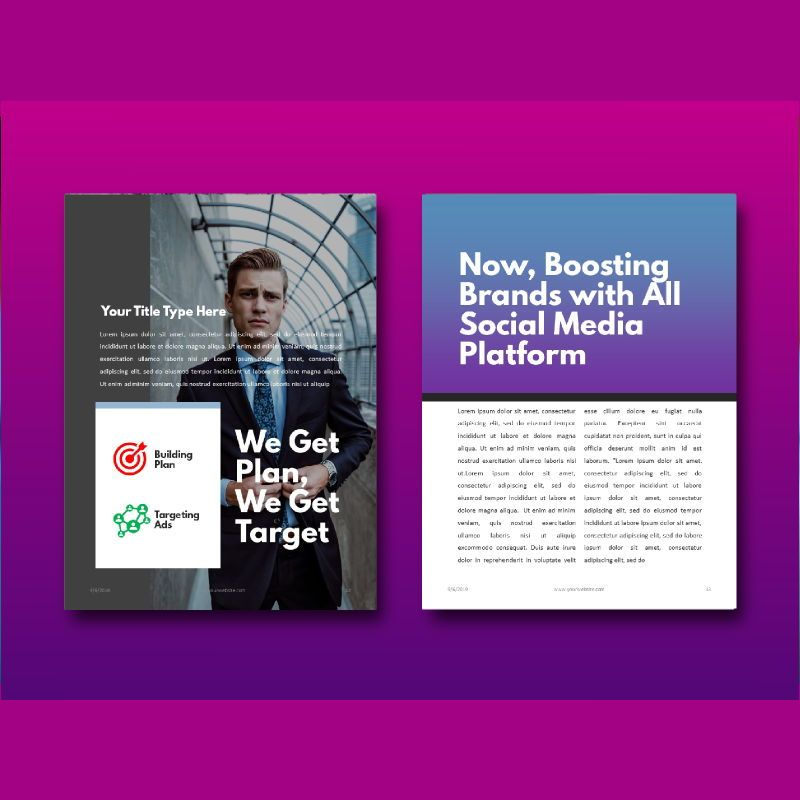 Social media marketing ebook keynote template, Slide 8, 05174, Presentation Templates — PoweredTemplate.com