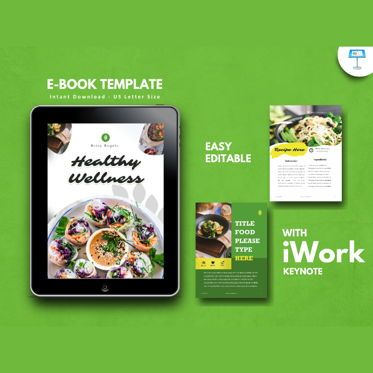 Presentation Templates: Vegan ebook keynote template #05175
