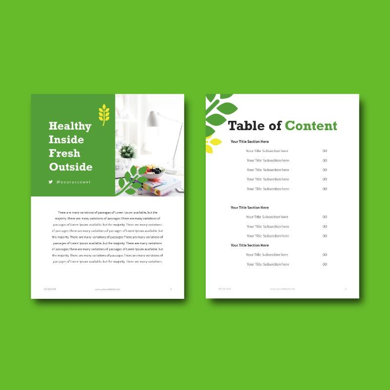 Vegan ebook keynote template, Slide 4, 05175, Presentation Templates — PoweredTemplate.com