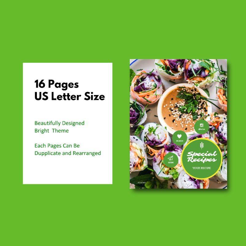 Vegan ebook keynote template, Slide 5, 05175, Presentation Templates — PoweredTemplate.com
