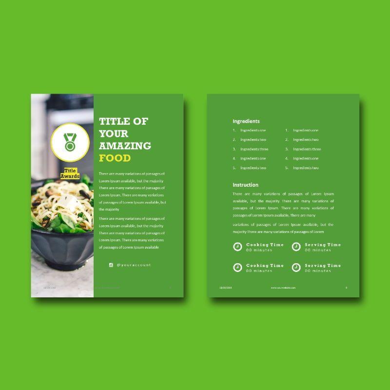 Vegan ebook keynote template, Slide 6, 05175, Presentation Templates — PoweredTemplate.com