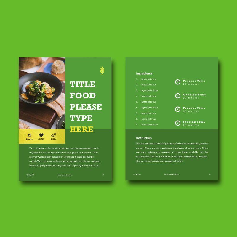 Vegan ebook keynote template, Slide 7, 05175, Presentation Templates — PoweredTemplate.com