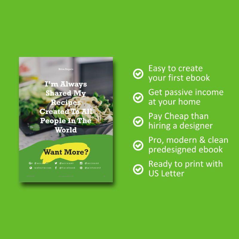 Vegan ebook keynote template, Slide 9, 05175, Presentation Templates — PoweredTemplate.com