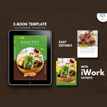 Presentation Templates: Vegetarian recipe ebook keynote template #05177