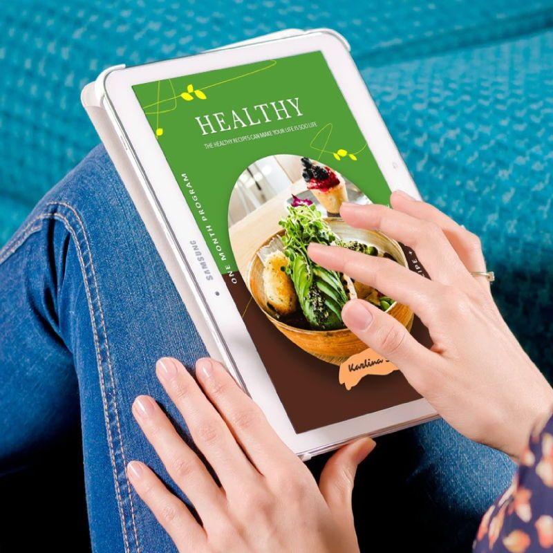 Vegetarian recipe ebook keynote template, Slide 2, 05177, Presentation Templates — PoweredTemplate.com