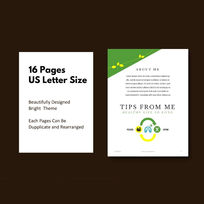 Vegetarian recipe ebook keynote template, Slide 5, 05177, Presentation Templates — PoweredTemplate.com