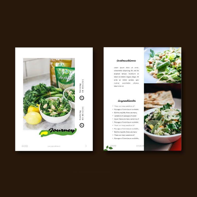 Vegetarian recipe ebook keynote template, Slide 7, 05177, Presentation Templates — PoweredTemplate.com