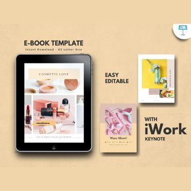 Presentation Templates: Cosmetic makeup tips ebook keynote template #05178
