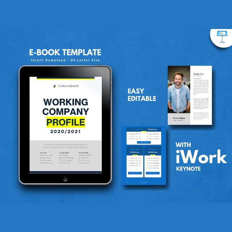 Company profile 2020 ebook keynote template, 05179, Business Models — PoweredTemplate.com