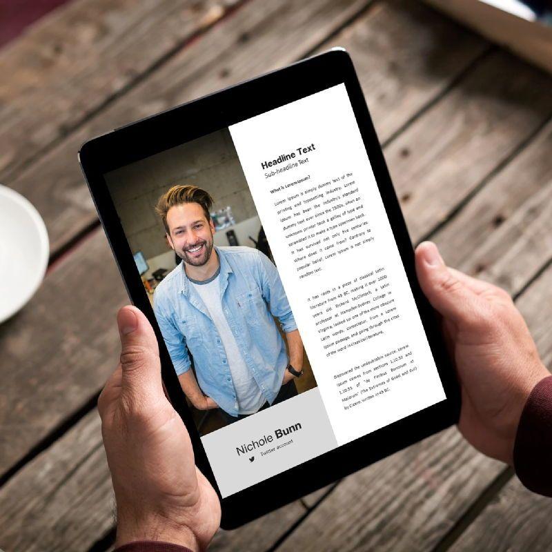 Company profile 2020 ebook keynote template, Slide 2, 05179, Business Models — PoweredTemplate.com