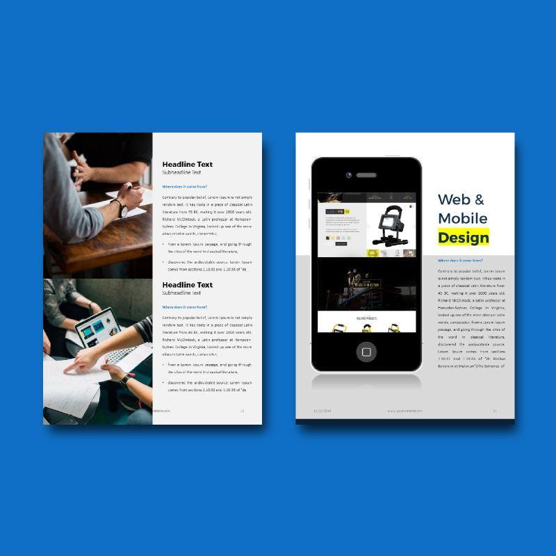 Company profile 2020 ebook keynote template, Slide 8, 05179, Business Models — PoweredTemplate.com
