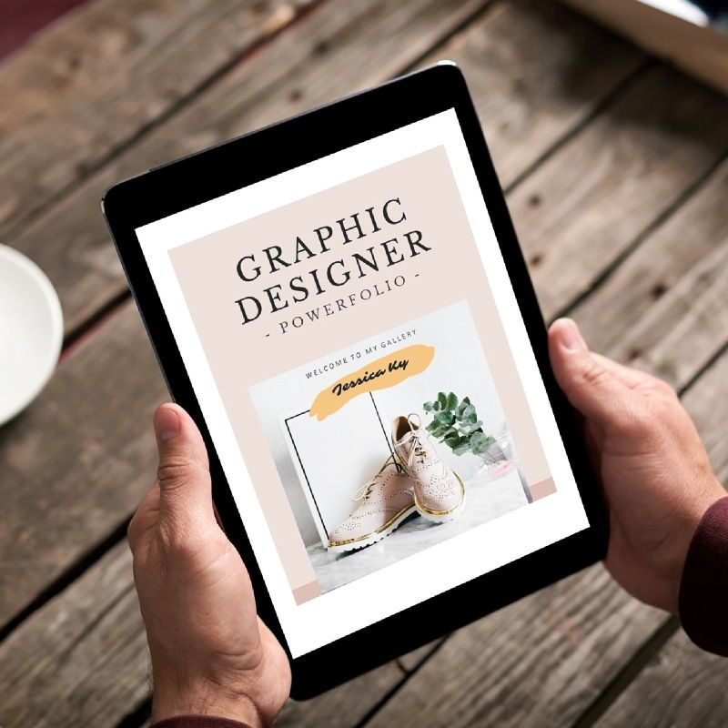 Graphic designer portfolio ebook keynote template, Slide 2, 05180, Presentation Templates — PoweredTemplate.com