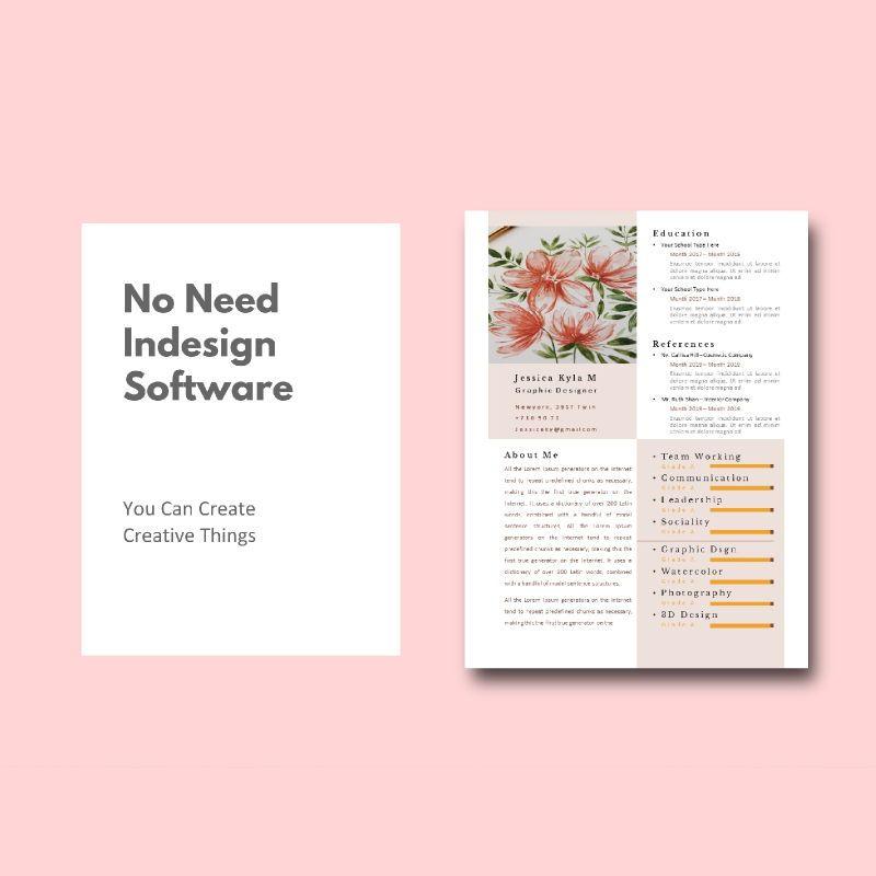 Graphic designer portfolio ebook keynote template, Slide 3, 05180, Presentation Templates — PoweredTemplate.com