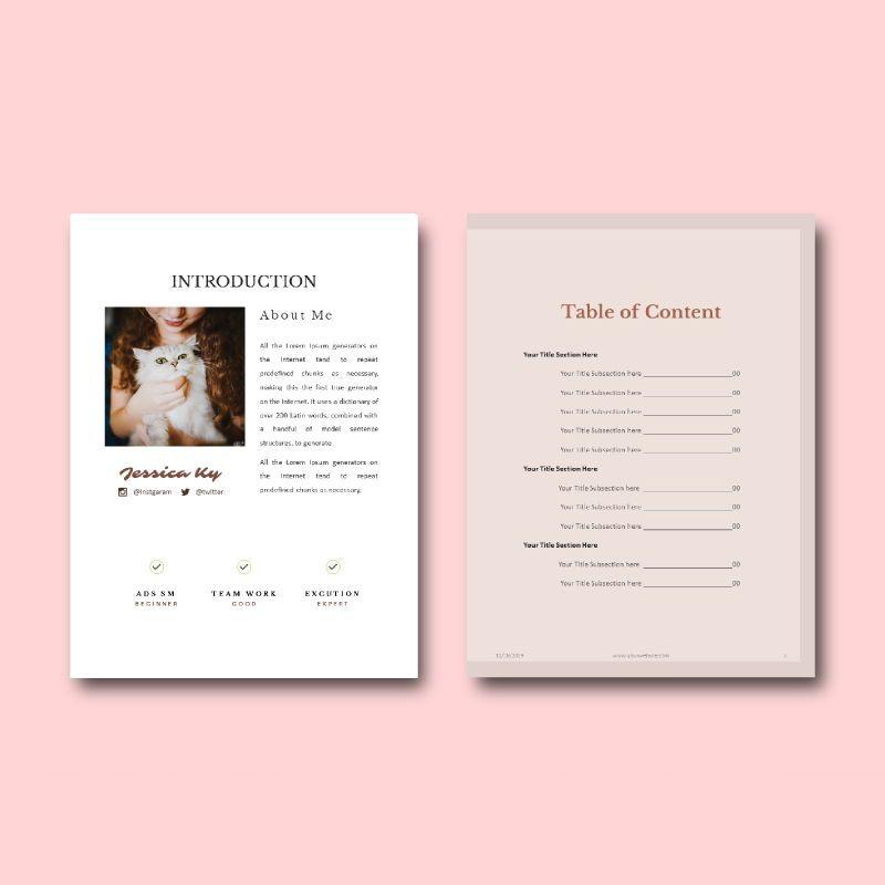 Graphic designer portfolio ebook keynote template, Slide 4, 05180, Presentation Templates — PoweredTemplate.com