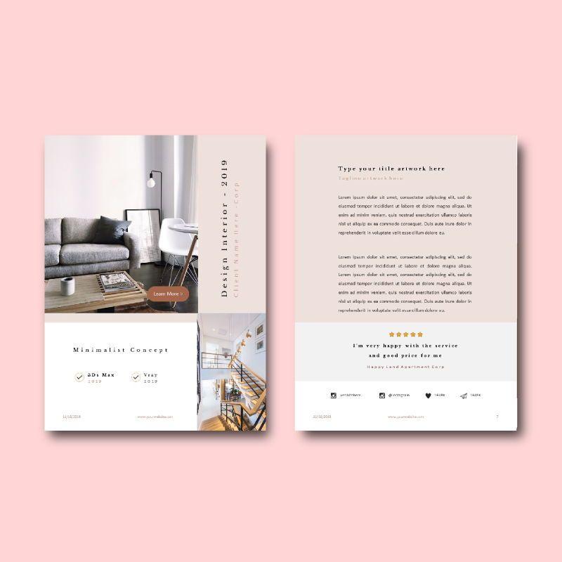 Graphic designer portfolio ebook keynote template, Slide 6, 05180, Presentation Templates — PoweredTemplate.com