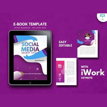 Infographics: Social media secret ebook keynote template #05181