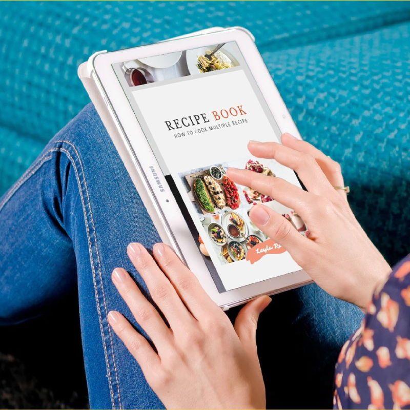 Minimal recipe ebook keynote template, Slide 2, 05182, Presentation Templates — PoweredTemplate.com