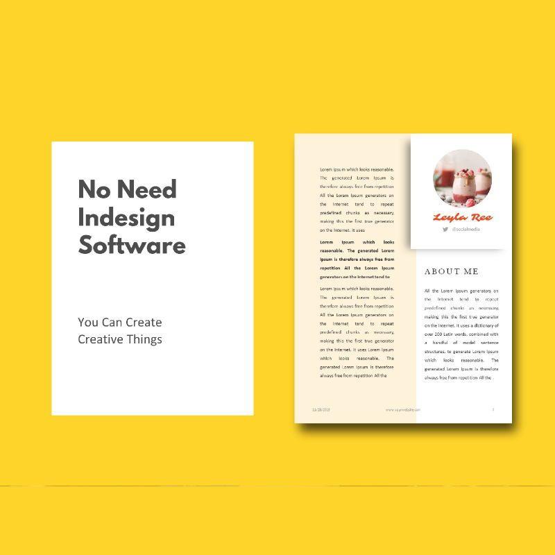 Minimal recipe ebook keynote template, Slide 3, 05182, Presentation Templates — PoweredTemplate.com