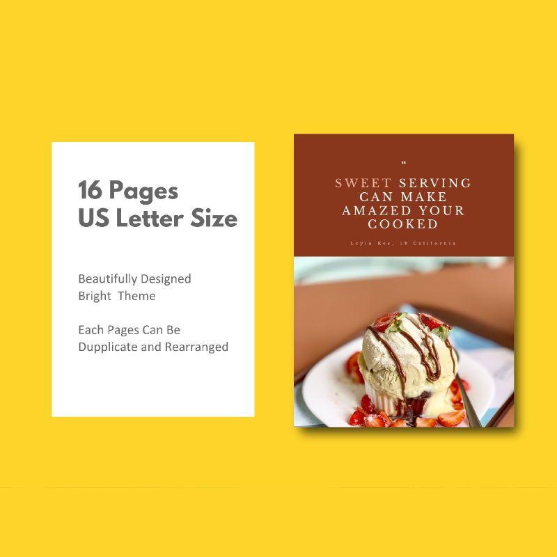 Minimal recipe ebook keynote template, Slide 5, 05182, Presentation Templates — PoweredTemplate.com