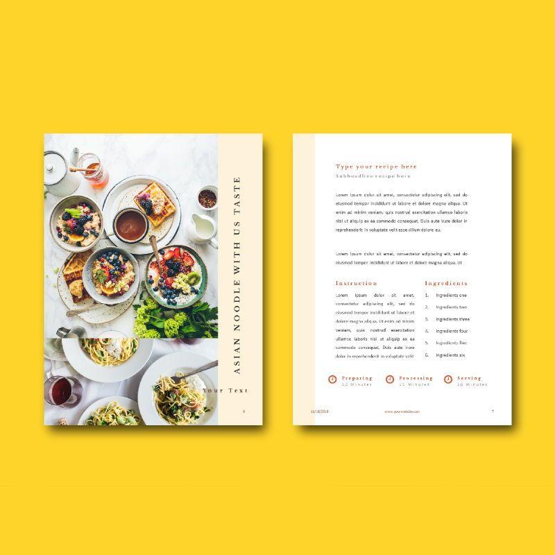 Minimal recipe ebook keynote template, Slide 6, 05182, Presentation Templates — PoweredTemplate.com