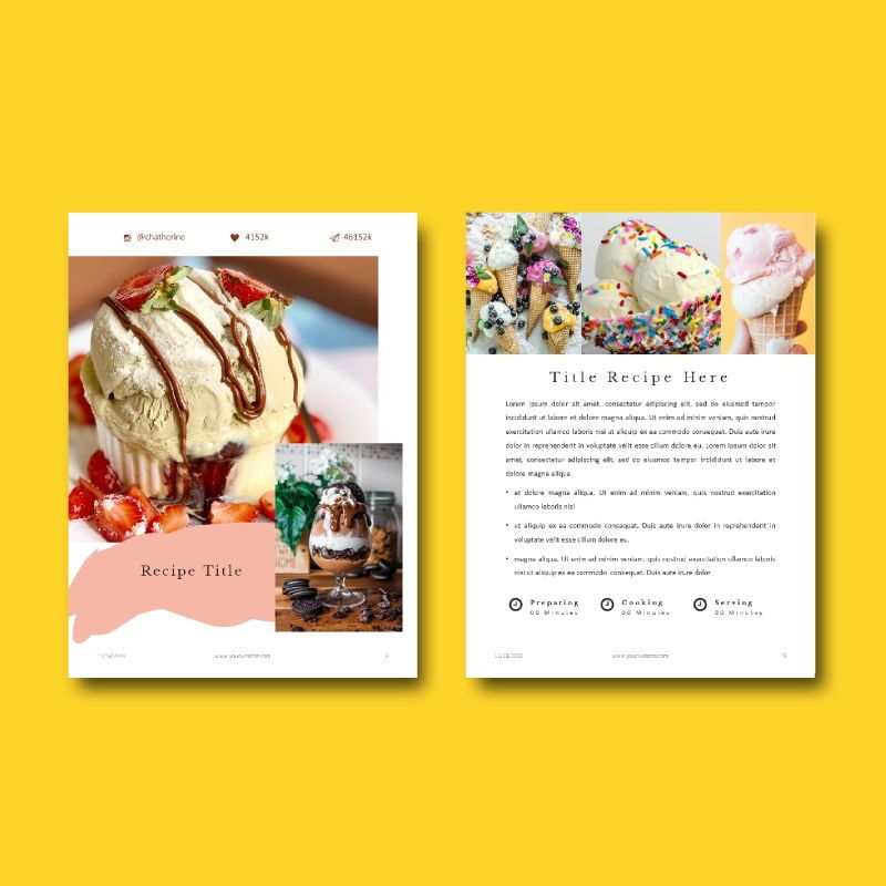 Minimal recipe ebook keynote template, Slide 7, 05182, Presentation Templates — PoweredTemplate.com