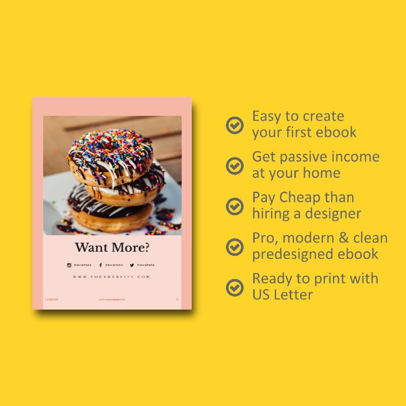 Minimal recipe ebook keynote template, Slide 9, 05182, Presentation Templates — PoweredTemplate.com