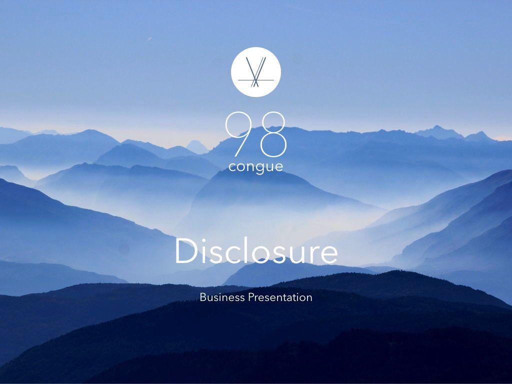 Disclosure Google Slides Presentation Template, 05183, Presentation Templates — PoweredTemplate.com