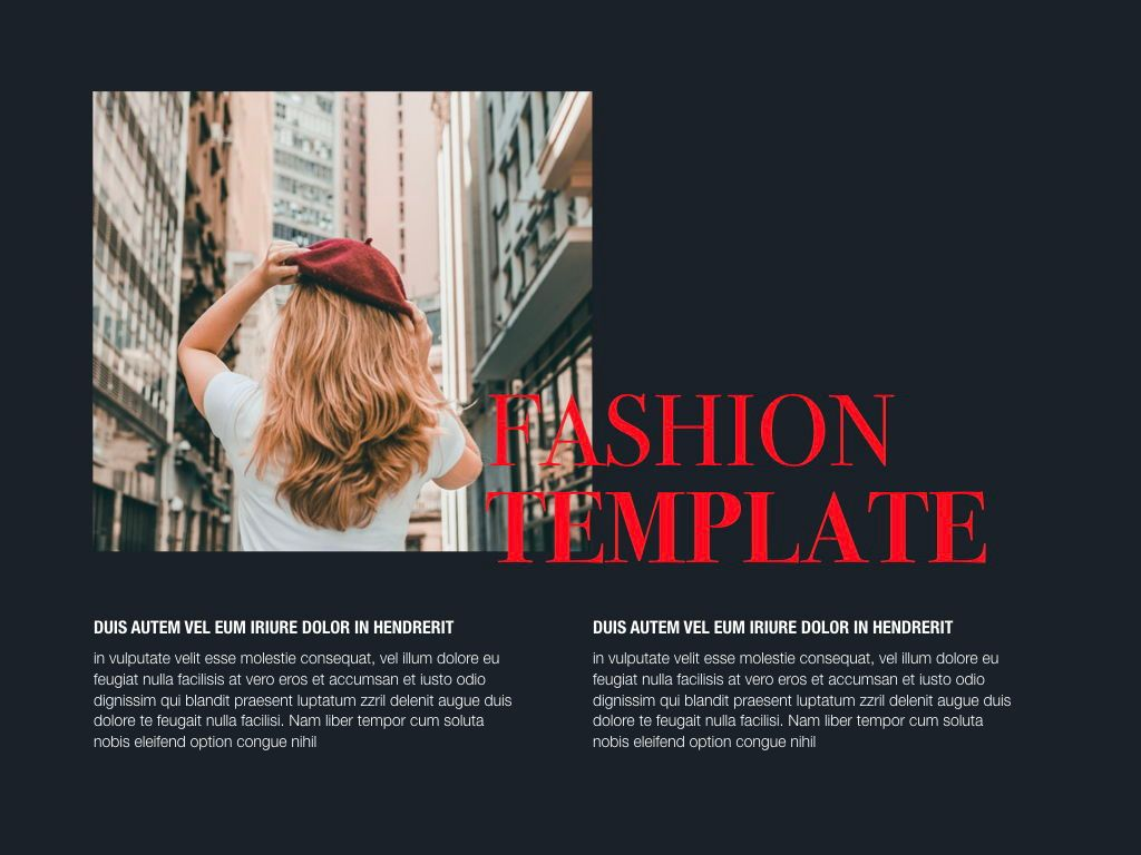 Fashion Tale Google Slides Presentation Template, Slide 3, 05188, Presentation Templates — PoweredTemplate.com