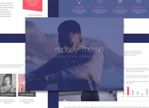 Presentation Templates: Front Row Google Slides Presentation Template #05189