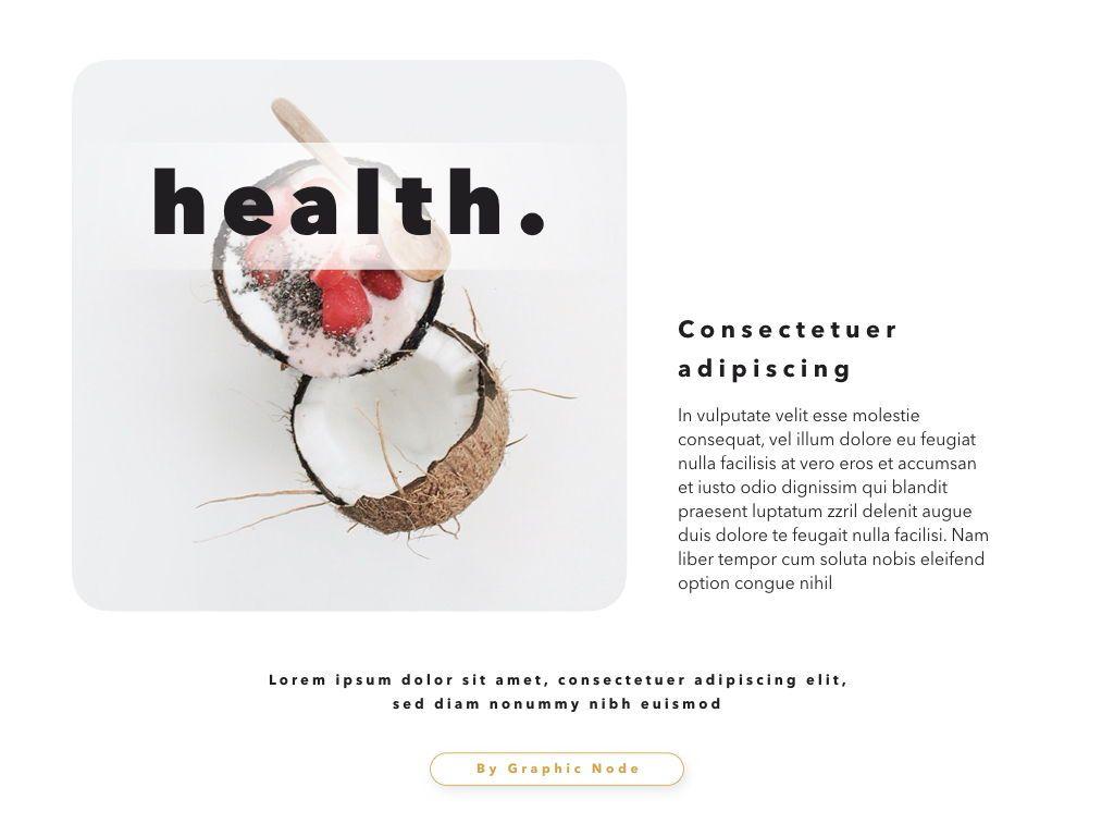 Healthy Google Slides Presentation Template, Slide 2, 05190, Presentation Templates — PoweredTemplate.com