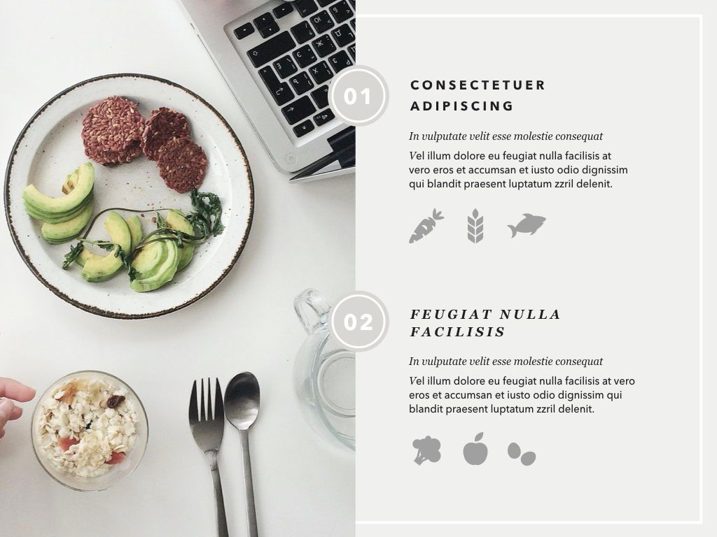 Healthy Diet Google Slides Presentation Template, Slide 6, 05192, Presentation Templates — PoweredTemplate.com