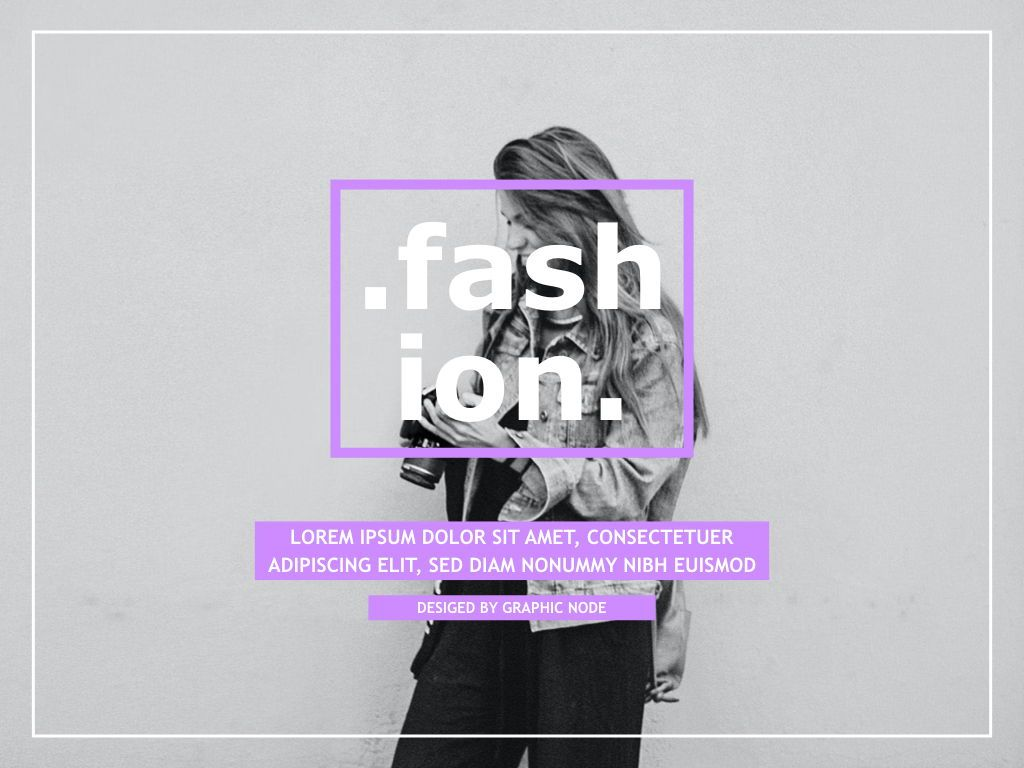 High Fashion Google Slides Presentation Template, 05193, Presentation Templates — PoweredTemplate.com