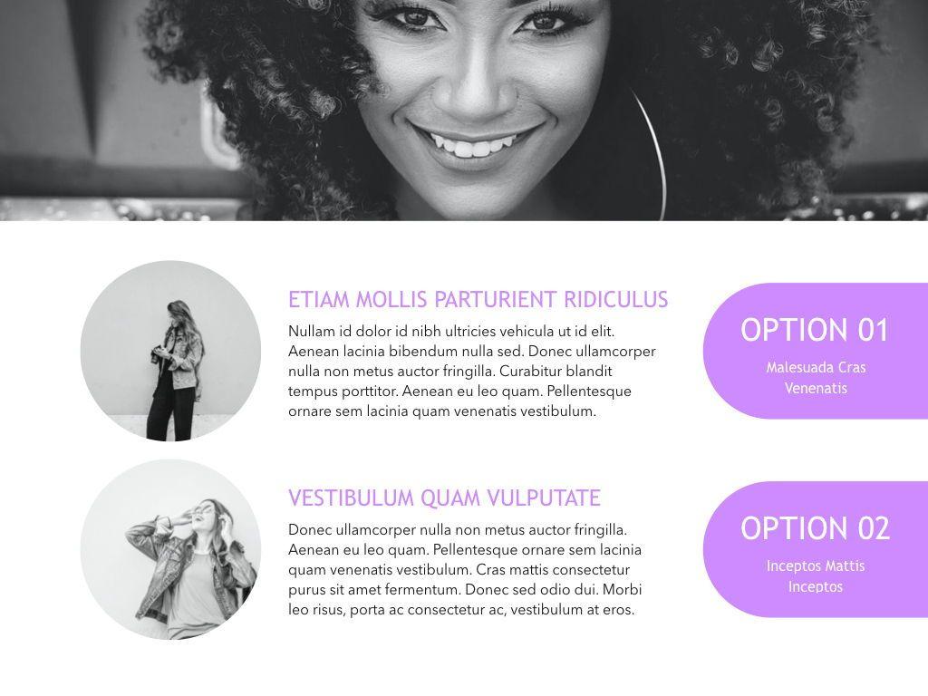 High Fashion Google Slides Presentation Template, Slide 9, 05193, Presentation Templates — PoweredTemplate.com
