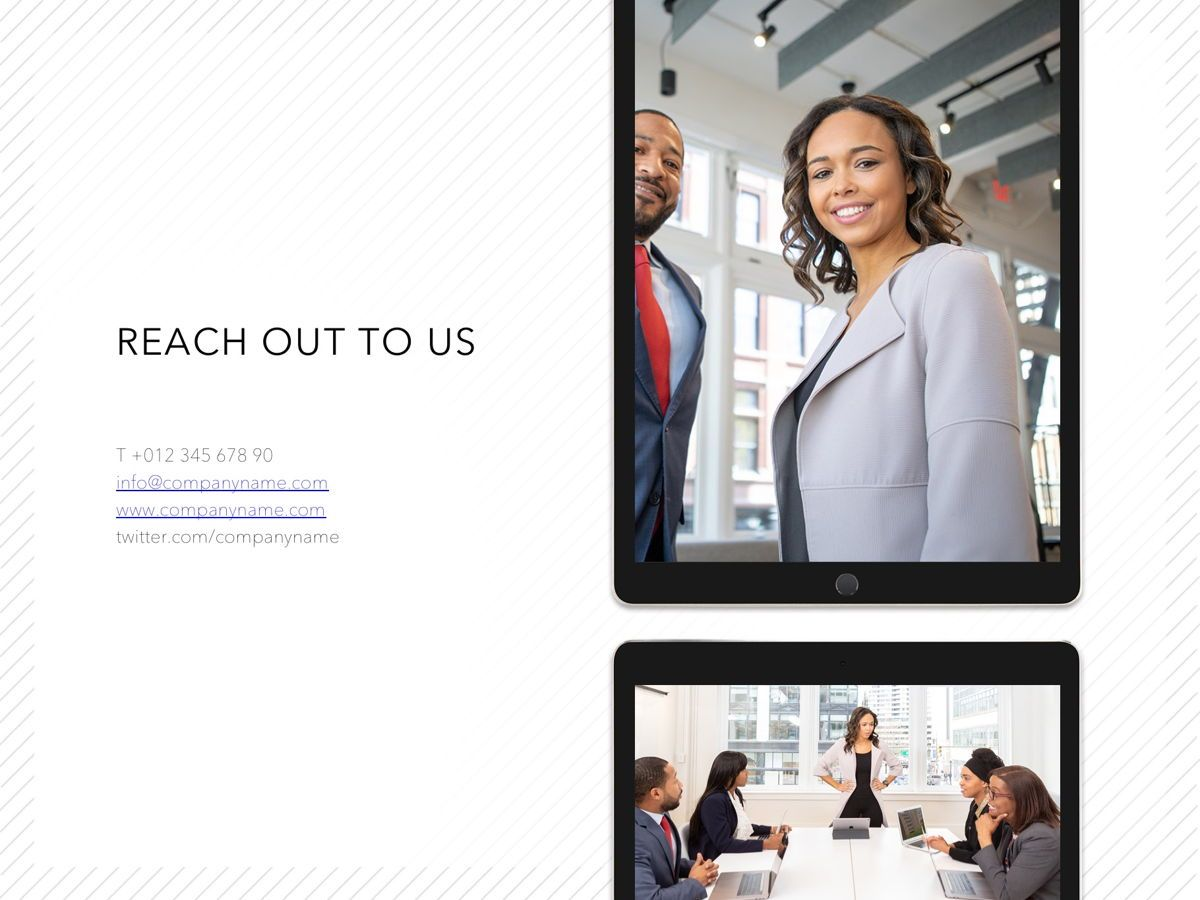 Corporate PowerPoint Template, Slide 19, 05201, Presentation Templates — PoweredTemplate.com