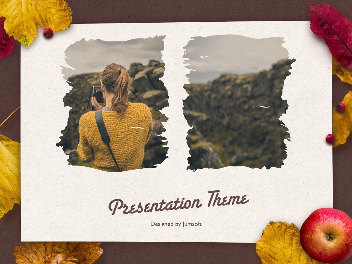 Golden Leaves PowerPoint Theme, Slide 14, 05202, Presentation Templates — PoweredTemplate.com