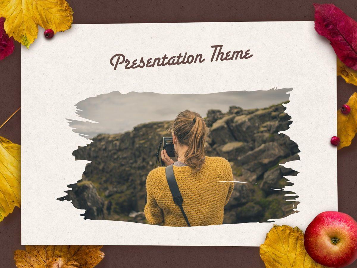 Golden Leaves PowerPoint Theme, Slide 15, 05202, Presentation Templates — PoweredTemplate.com
