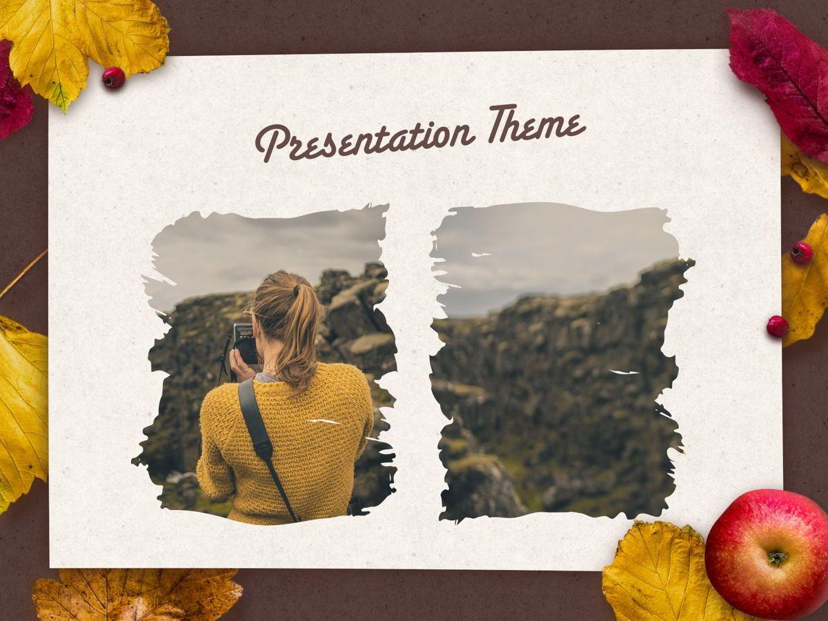Golden Leaves PowerPoint Theme, Slide 16, 05202, Presentation Templates — PoweredTemplate.com