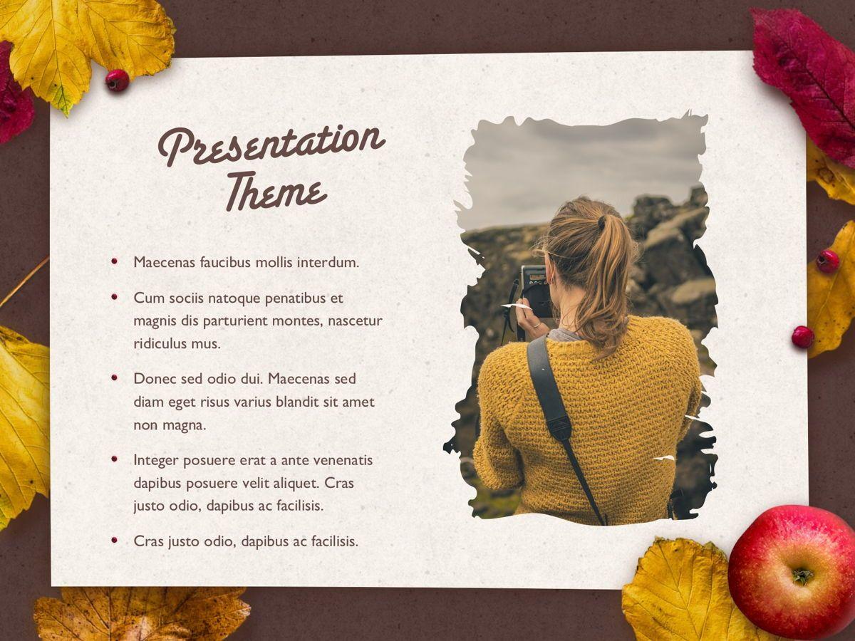 Golden Leaves PowerPoint Theme, Slide 17, 05202, Presentation Templates — PoweredTemplate.com