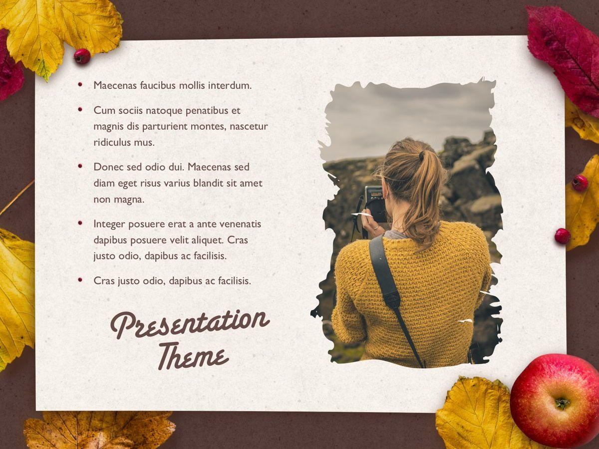Golden Leaves PowerPoint Theme, Slide 19, 05202, Presentation Templates — PoweredTemplate.com