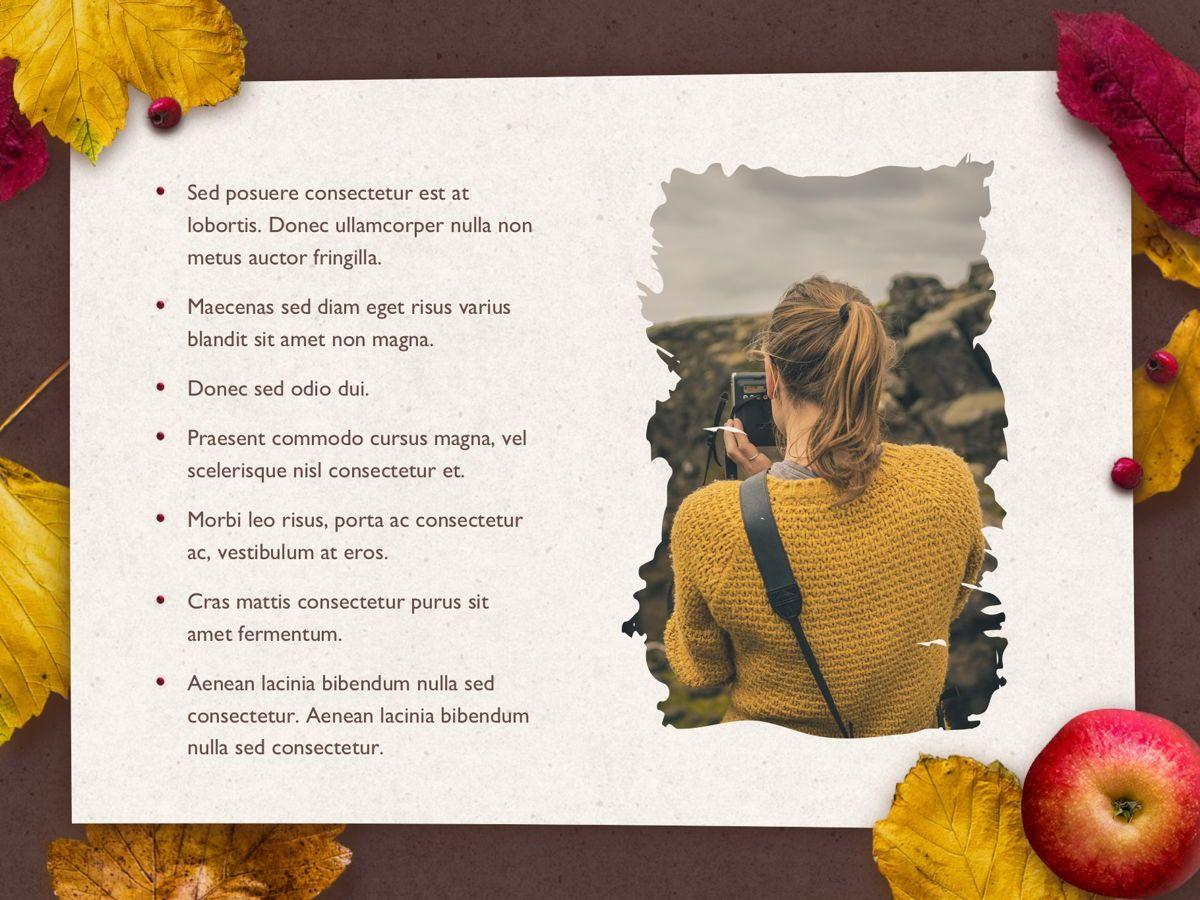 Golden Leaves PowerPoint Theme, Slide 21, 05202, Presentation Templates — PoweredTemplate.com