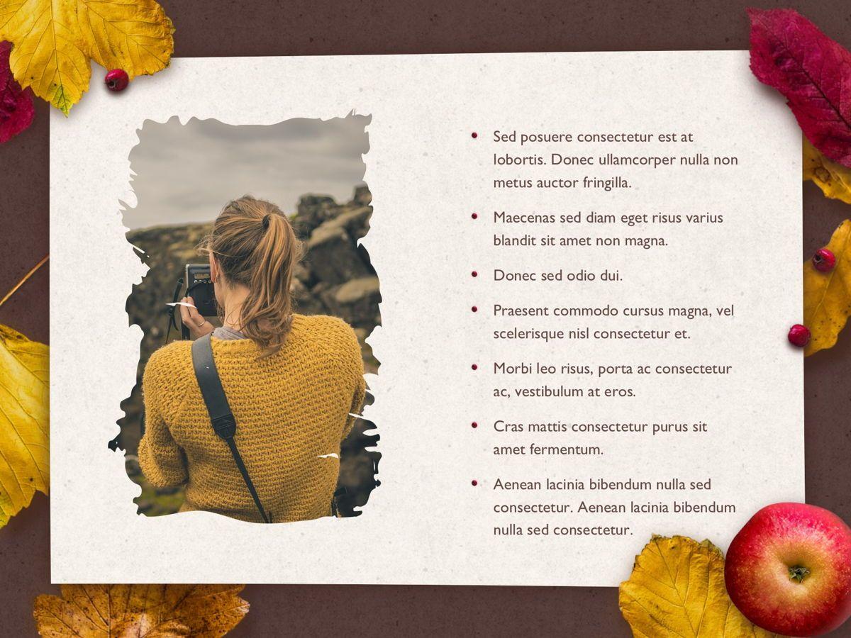 Golden Leaves PowerPoint Theme, Slide 22, 05202, Presentation Templates — PoweredTemplate.com