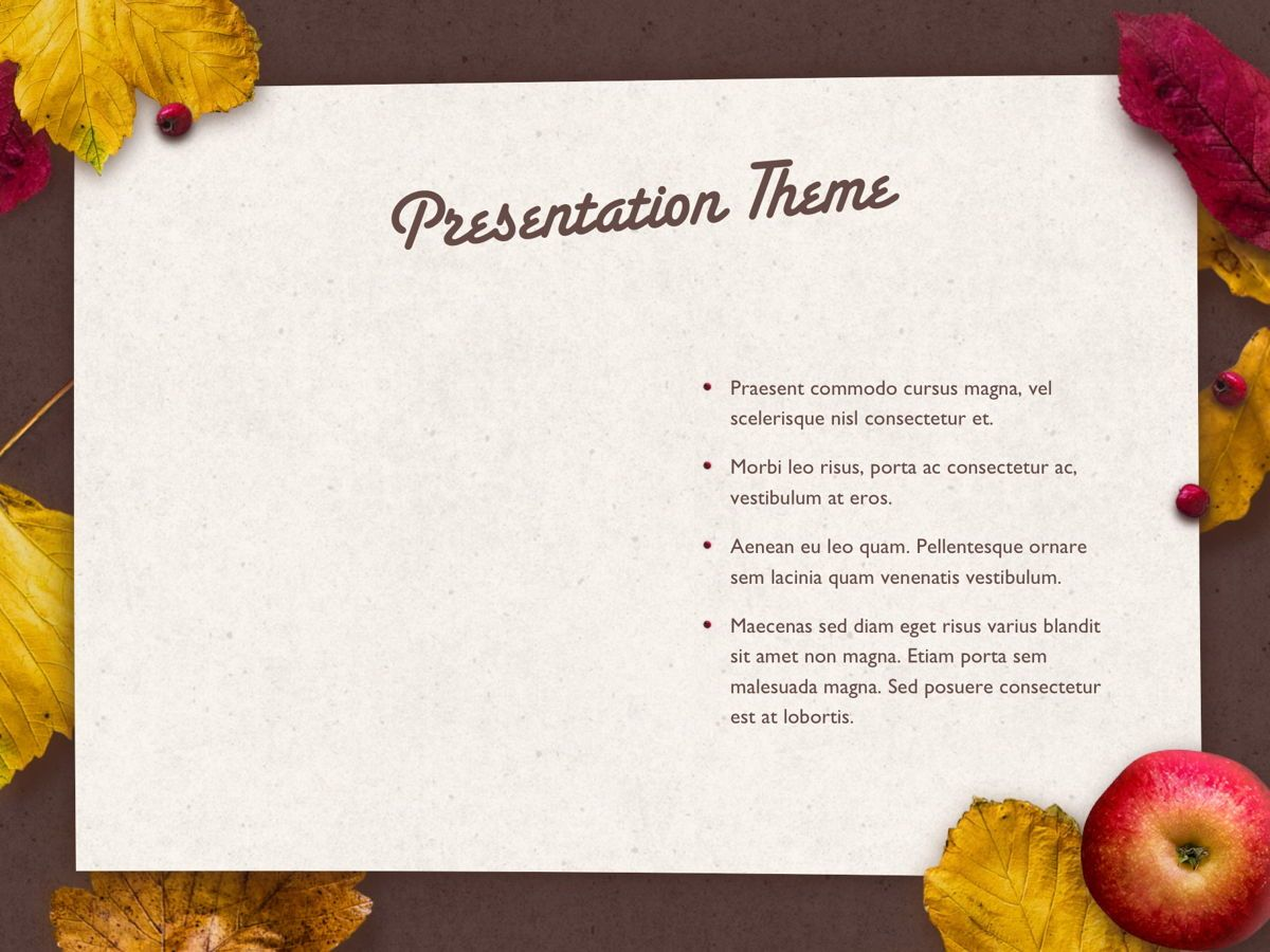 Golden Leaves PowerPoint Theme, Slide 33, 05202, Presentation Templates — PoweredTemplate.com