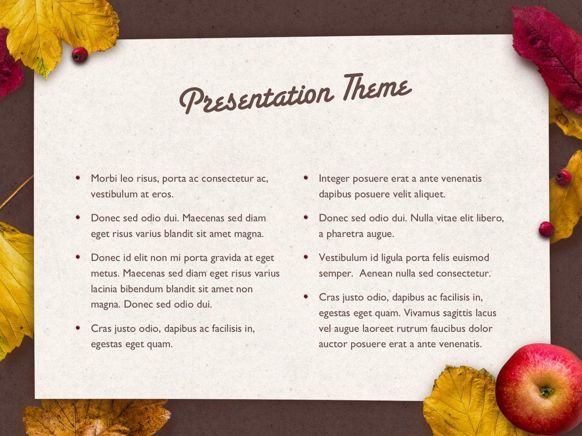 Golden Leaves PowerPoint Theme, Slide 4, 05202, Presentation Templates — PoweredTemplate.com