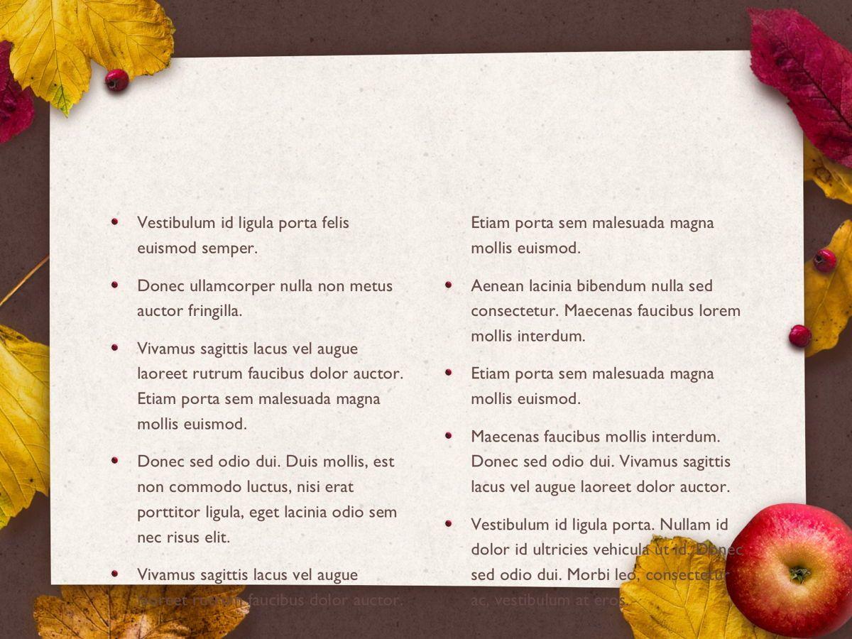 Golden Leaves PowerPoint Theme, Slide 6, 05202, Presentation Templates — PoweredTemplate.com