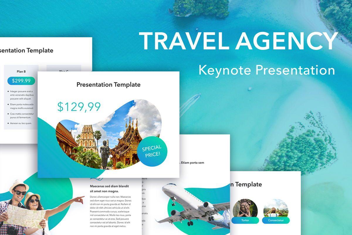 Travel Agency Keynote Template, 05203, Presentation Templates — PoweredTemplate.com
