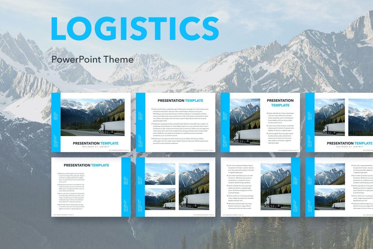 Logistics PowerPoint Theme, 05204, Presentation Templates — PoweredTemplate.com