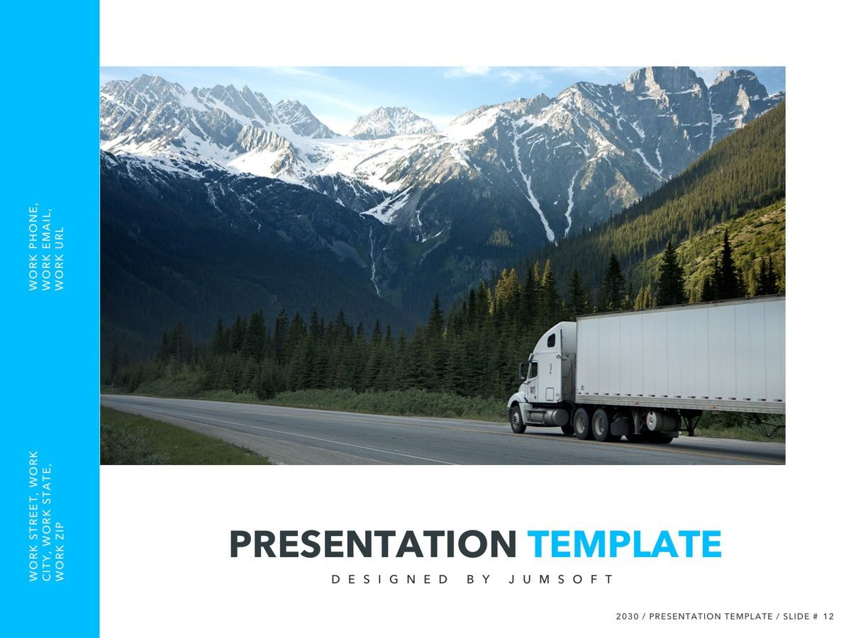 Logistics PowerPoint Theme, Slide 13, 05204, Presentation Templates — PoweredTemplate.com